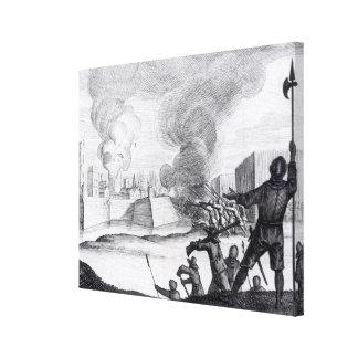 Oliver Cromwell sitia el Drogheda en 1649-50 Impresión En Lienzo
