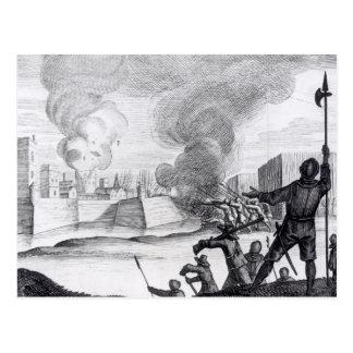 Oliver Cromwell sitia el Drogheda en 1649-50 Tarjeta Postal
