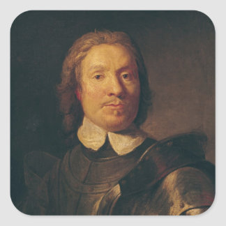 Oliver Cromwell Square Sticker