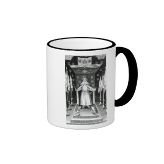 Oliver Cromwell  standing in state; Ringer Coffee Mug