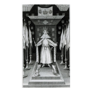 Oliver Cromwell  standing in state; Poster
