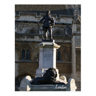 Oliver Cromwell statue Postcard