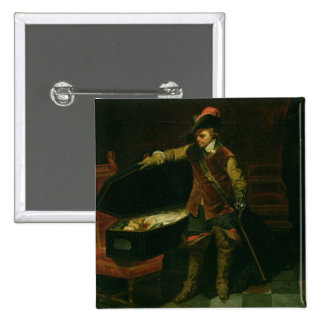Oliver Cromwell  with the Coffin of Charles I Pins
