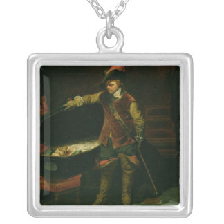 Oliver Cromwell  with the Coffin of Charles I Pendants
