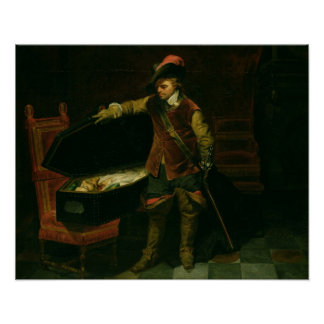 Oliver Cromwell  with the Coffin of Charles I Poster