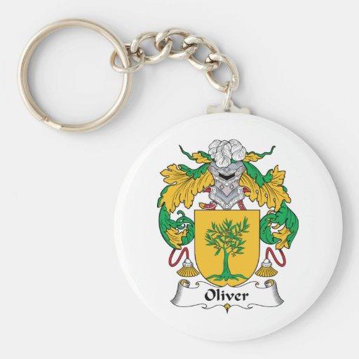 Oliver Family Crest Key Chain
