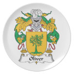 Oliver Family Crest Party Plates