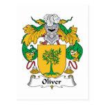 Oliver Family Crest Postcards