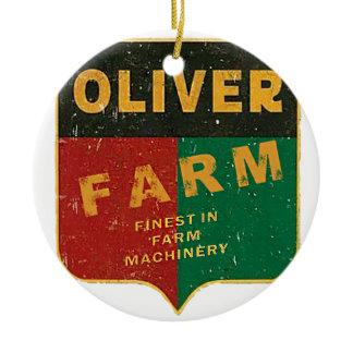 Oliver Farming Ceramic Ornament