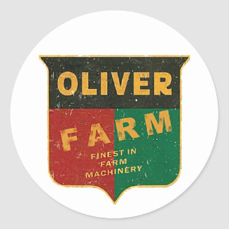 Oliver Farming Classic Round Sticker