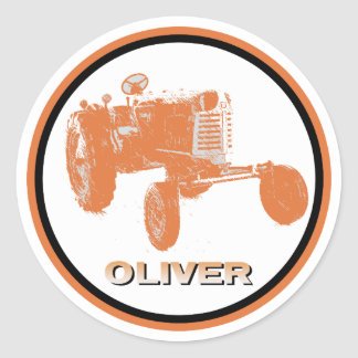 Oliver Farming Decal Classic Round Sticker