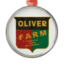 Oliver Farming Metal Ornament