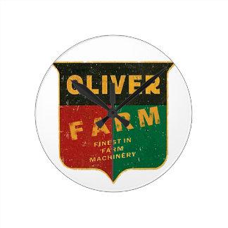 Oliver Farming Round Clock
