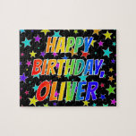 "[ Thumbnail: ""Oliver"" First Name, Fun ""Happy Birthday"" Jigsaw Puzzle ]"