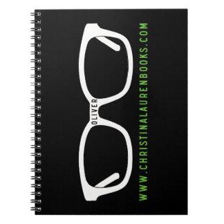 Oliver Glasses Spiral Notebook
