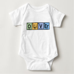 Baby Jersey Bodysuit with Oliver made of Elements design