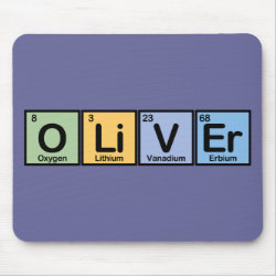 Mousepad with Oliver made of Elements design
