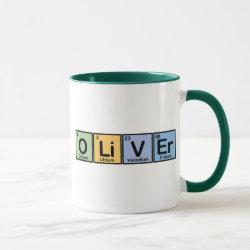 Mug with Oliver made of Elements design
