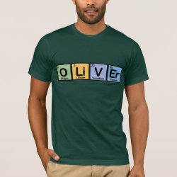 Men's Basic American Apparel T-Shirt with Oliver made of Elements design