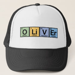 Trucker Hat with Oliver made of Elements design
