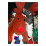 Oliver meets Rudolf Greeting Card