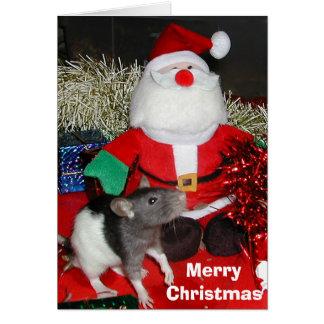 Oliver meets Santa Card