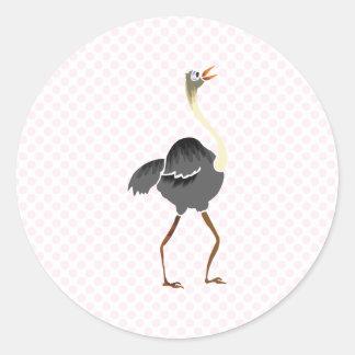 Oliver Ostrich Classic Round Sticker