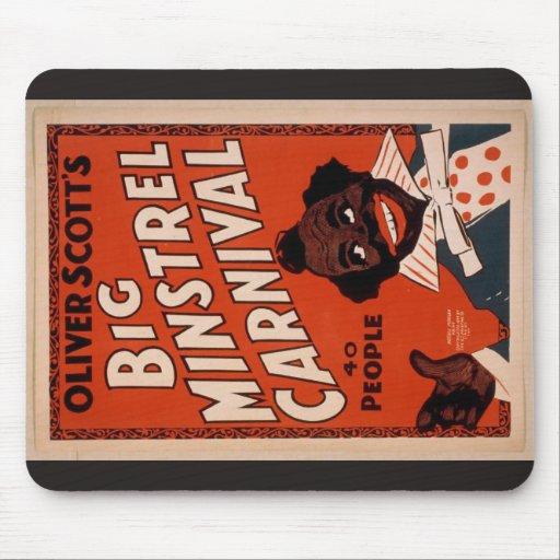 Oliver Scott's Big Ministrels Carnival, 40 people Mouse Pads