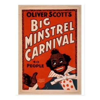 Oliver Scott's Big Ministrels Carnival, 40 people Postcard