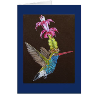 Oliver the hummungbird greeting card