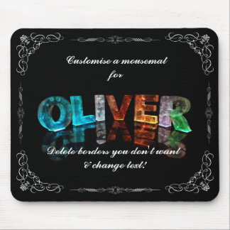 Oliver  - The Name Oliver in 3D Lights (Photograph Mouse Pad