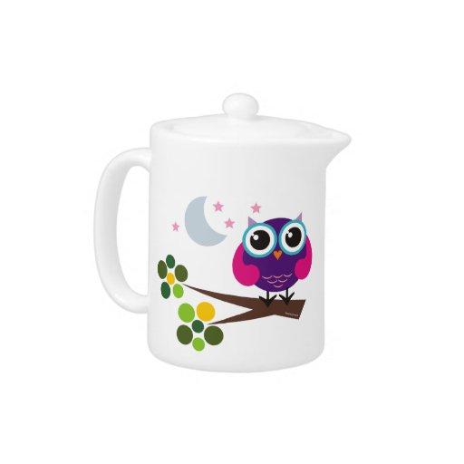 Oliver the Owl 11oz Porcelain Teapot