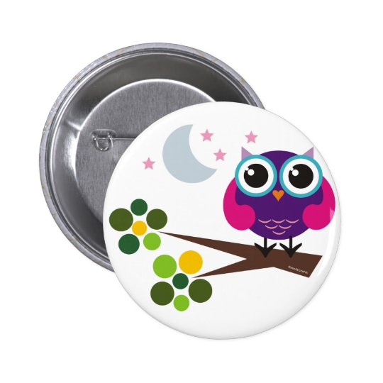 oliver, the owl button