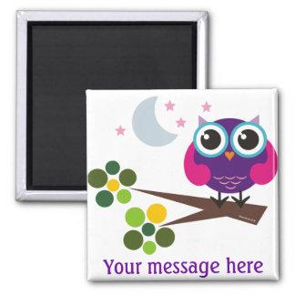 Oliver the Owl Customizable Fridge Magnet