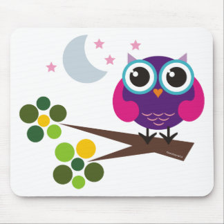 oliver, the owl mouse pad