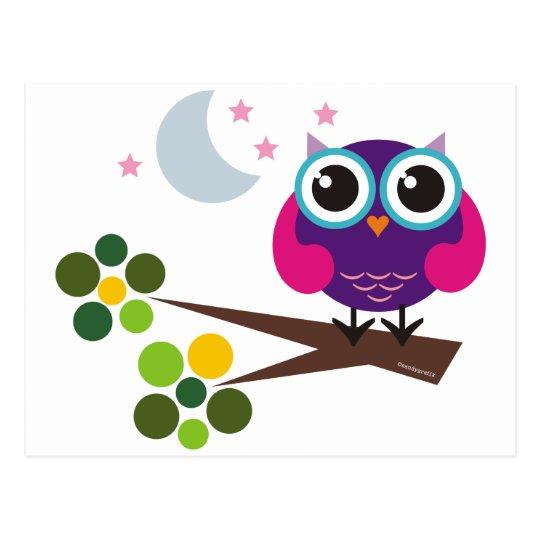 oliver, the owl postcard