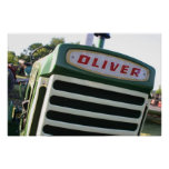 Oliver tractor decal poster