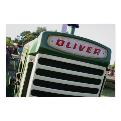 Oliver Tractor Decals : Oliver tractor decal posters zazzle