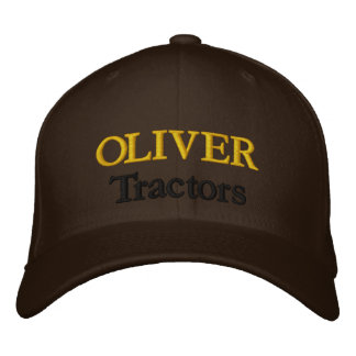 Oliver Tractors Lawnmowers Mowers Antique Farm Embroidered Baseball Cap