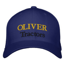 Oliver Tractors Lawnmowers Mowers Antique Farm Embroidered Baseball Hat