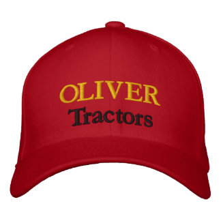 Oliver Tractors Lawnmowers Mowers Husky Design Embroidered Baseball Hat