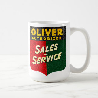 Oliver Tractors vintage sales and service sign Coffee Mug