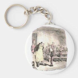 Oliver Twist Asks for More Basic Round Button Keychain