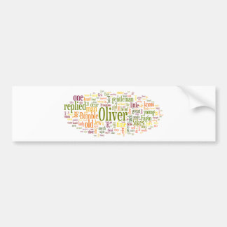 Oliver Twist Car Bumper Sticker