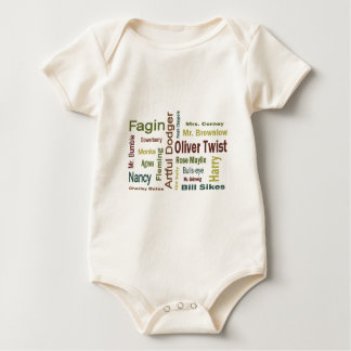 Oliver Twist Characters Baby Bodysuit