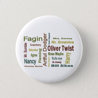 Oliver Twist Characters Pinback Button