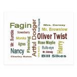 Oliver Twist Characters Postcard