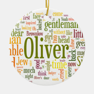 Oliver Twist Double-Sided Ceramic Round Christmas Ornament