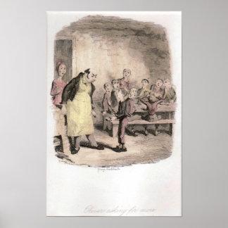 Oliver Twist pide más original Póster