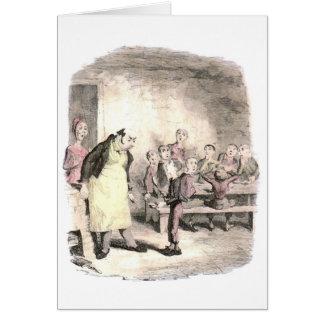 Oliver Twist pide más Tarjetas